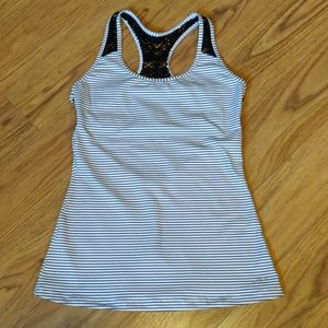 EUC O'Neill lace back tank top with built-in bra